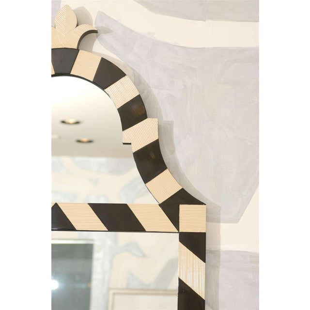 Modern Fabulous Pair of Modern High Style Mirrors in Cream and Black For Sale - Image 3 of 10