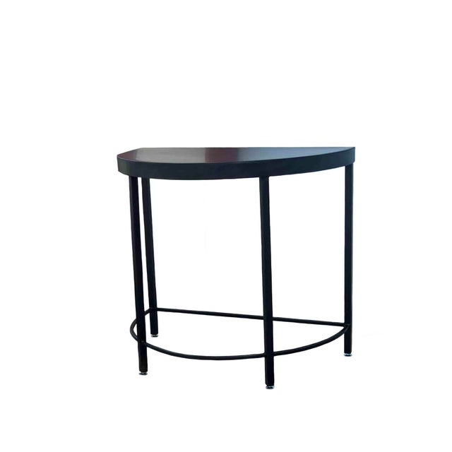 Boho Chic Metal Demilune or Half Moon Table by Invictus Steelworks For Sale - Image 3 of 4