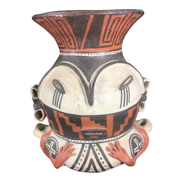 Mid-Century Peruvian Pottery Vase For Sale