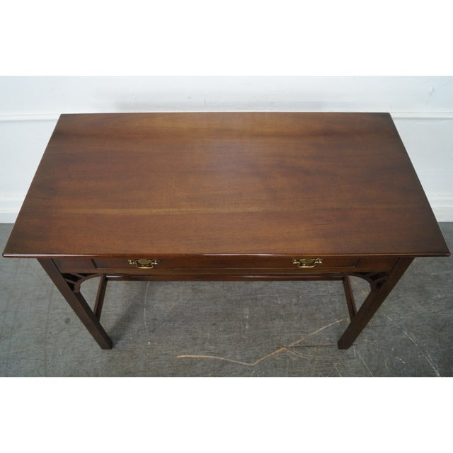 Kittinger Colonial Williamsburg Adaptation Mahogany Chippendale Writing Desk For Sale - Image 5 of 10