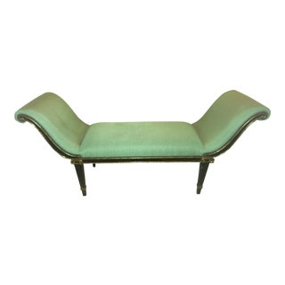 "Marge Carson ""Iona"" Seafoam Upholstered Bench For Sale"
