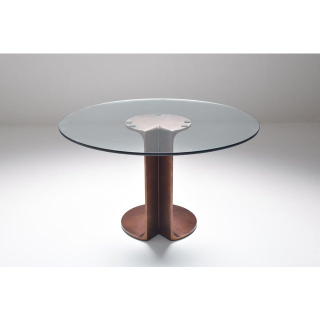 Metal 1970s Afra & Tobia Scarpa Bronze Table Tl59 For Sale - Image 7 of 13