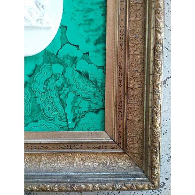 Baroque Classic Intaglio Faux Malachite Art For Sale - Image 3 of 5