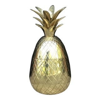 20th Century Hollywood Regency Brass Pineapple Box For Sale