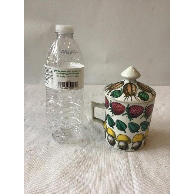 Fornasetti 1960s Fornasetti Giostra Di Frutta Mug with Lid For Sale - Image 4 of 6