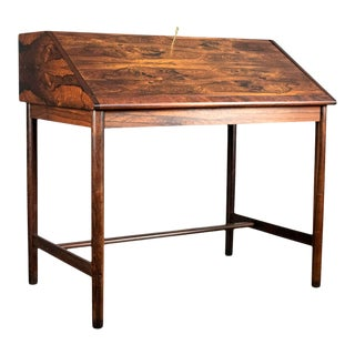 Outstanding Scandinavian Rosewood Secretary Desk by Torbjørn Afdal for Bruksbo For Sale