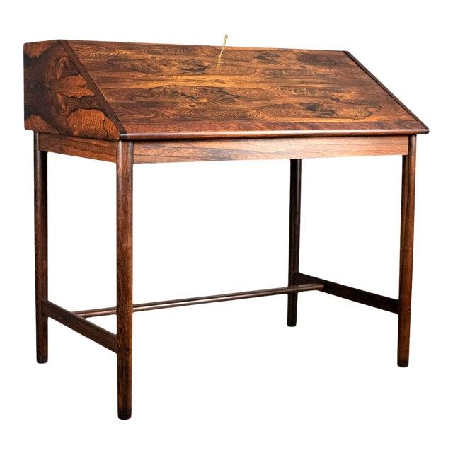 Outstanding Scandinavian Rosewood Secretary Desk by Torbjørn Afdal for Bruksbo For Sale