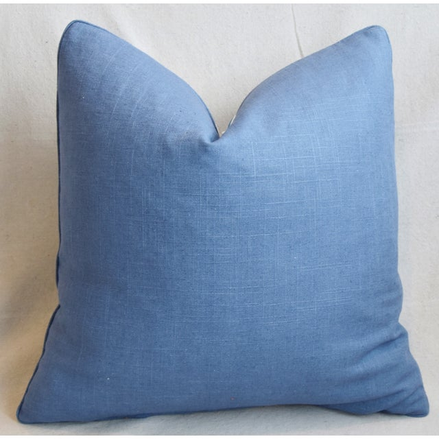 "Cotton P. Kaufmann Blue & White Animal Feather/Down Pillow 21"" Square For Sale - Image 7 of 9"