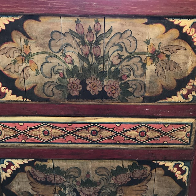 South East Asian Painted Teak Wall Panel - Image 3 of 4