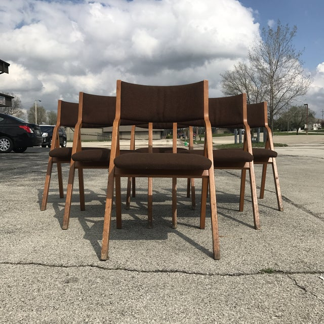 Mid-Century Modern Mid-Century Modern Folding Chairs - Set of 6 For Sale - Image 3 of 8