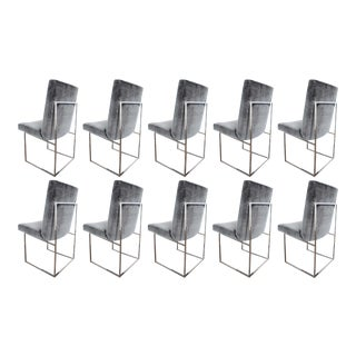 Milo Baughman 1187 Chair in Rubelli Velvet
