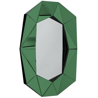 Emerald Diamond Decorative Mirror For Sale