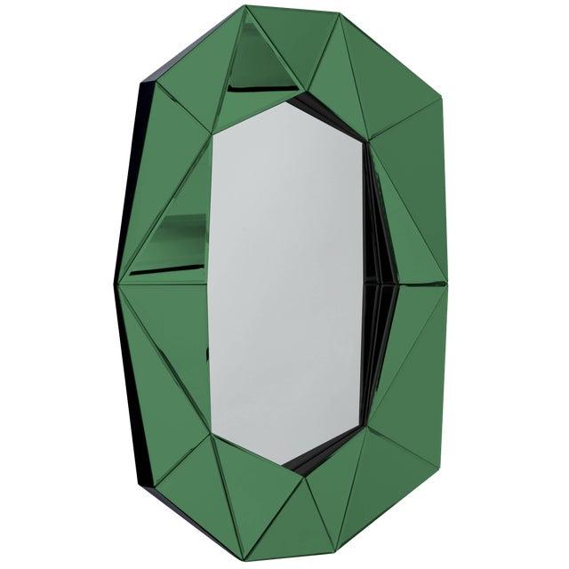 Emerald Diamond Decorative Mirror For Sale
