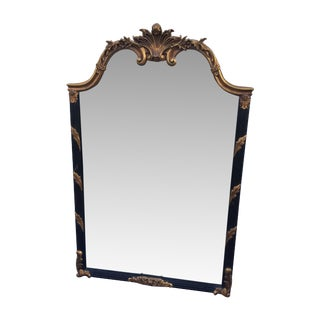 1950's Large Italian Gilt Mirror For Sale