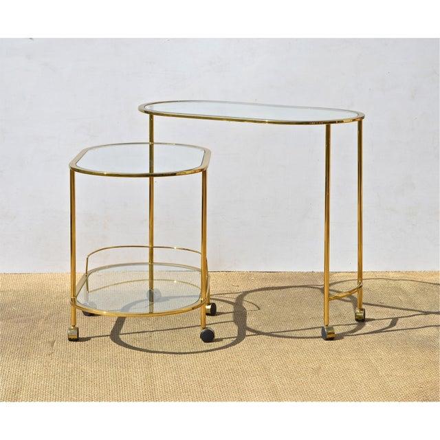 Brass & Glass Bar Cart - Image 6 of 9