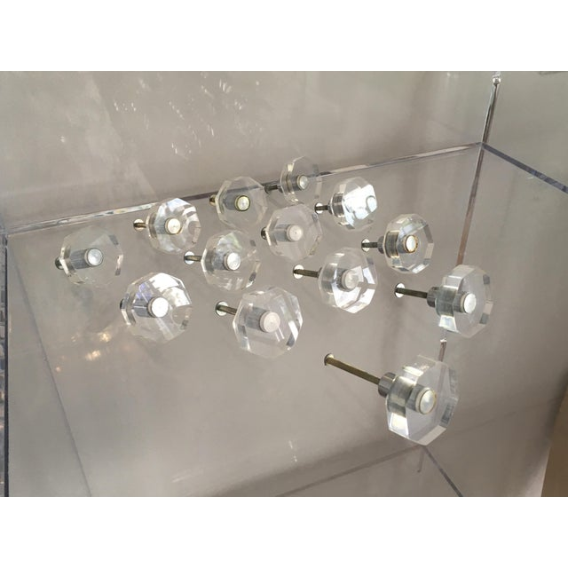 1960s Vintage Lucite Hexagonal Knobs - Group of 13 For Sale - Image 5 of 13