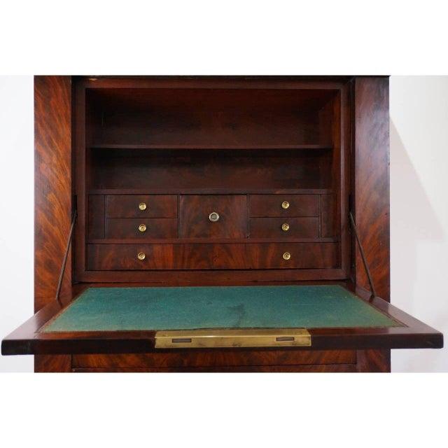 Art Deco Antique 1852 French Empire Secretaire Abattant Secretary Desk For Sale - Image 3 of 12