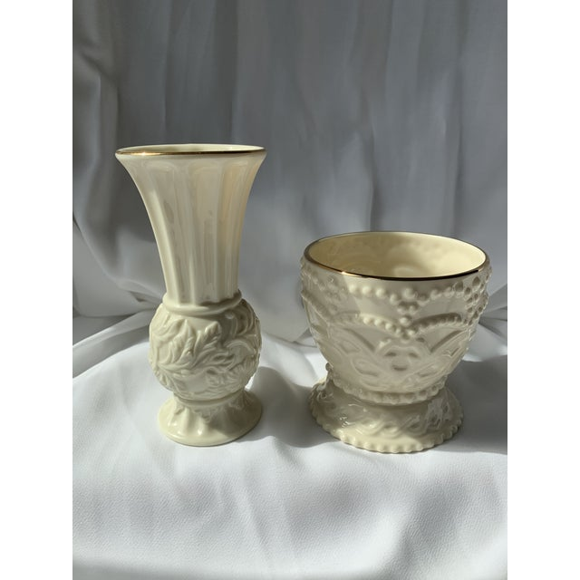 Bud Vase and Dish From Lenox - Set of 2 For Sale In Washington DC - Image 6 of 6