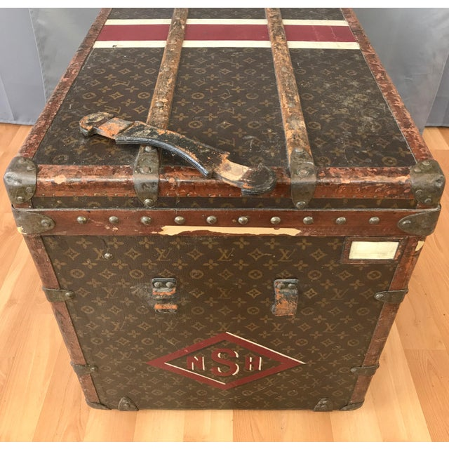 1950s Louis Vuitton Monogram Lady's Steamer Trunk For Sale - Image 12 of 13