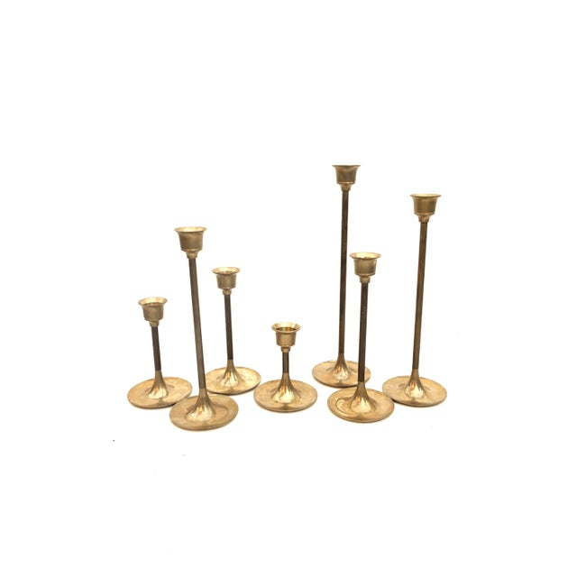 """Gold Vintage Brass Candlestick Holders 