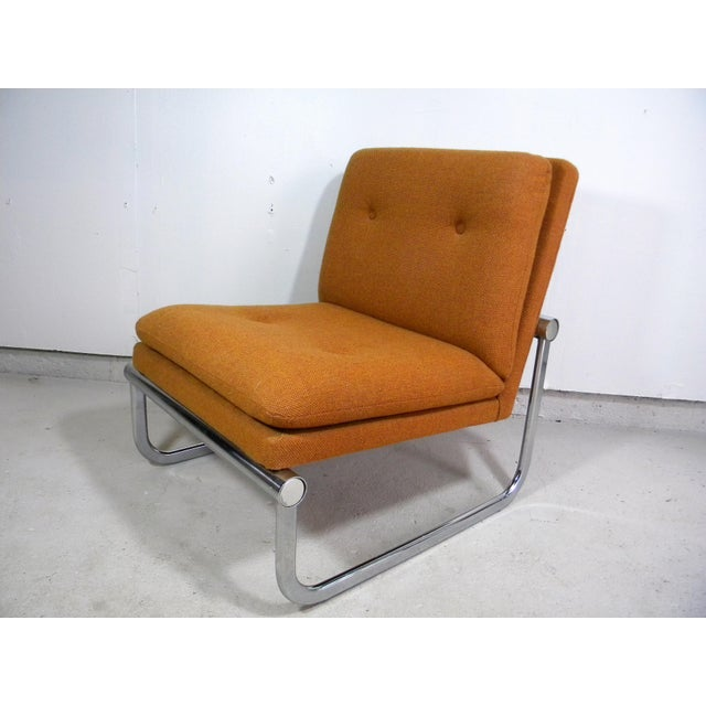 Mid Century Armless Chrome Chair - Image 2 of 6