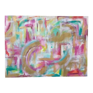 "Christina Longoria ""Just Like Heaven"" Abstract Painting For Sale"
