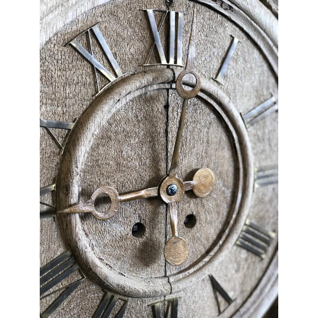 French Renaissance Architectural Carved Clock For Sale - Image 4 of 10