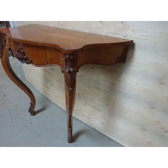 Rococo 19th Century Rococo Fruitwood Wall Console For Sale - Image 3 of 6