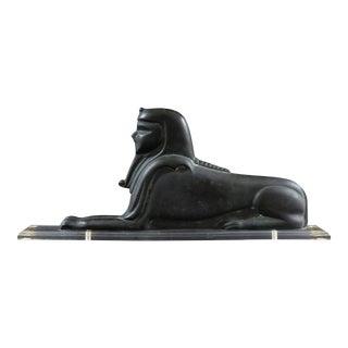 'Large Art Deco Bronze Sphinx', French School Circa 1930 For Sale