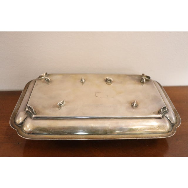 Metal 19th Century Silver Inkwell by j.g &S John Grinsell & Sons, London 1897 For Sale - Image 7 of 10