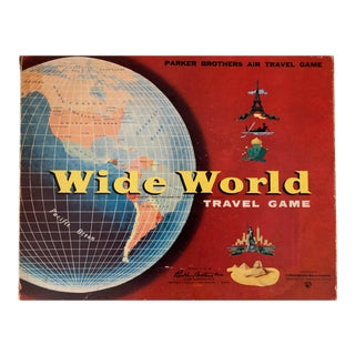 Wide World Travel Board Game by Parker Brothers For Sale