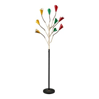 Spectacular Multi-Colored Stilnovo Floor Lamp of Rare Form For Sale