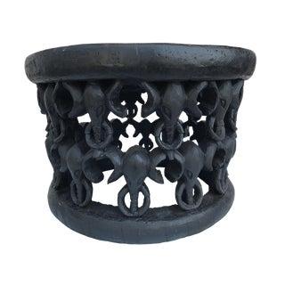"African Elephant Bamileke Table / Stool 16.5"" H For Sale"