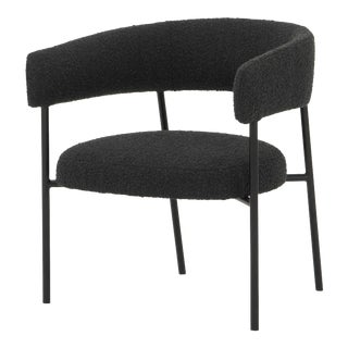 Cassia Occasional Chair In Licorice Boucle For Sale