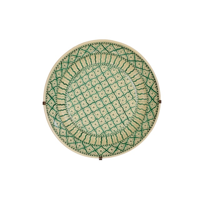 Large Italian Ceramic Charger by Ceramiche Nicola Fasano For Sale In Phoenix - Image 6 of 6