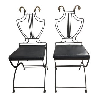 1960s Neoclassical Samuel Copelon Chairs - a Pair For Sale