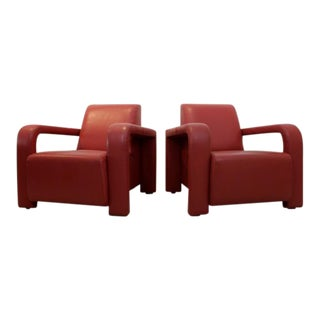 Marinelli Leather Arm Chairs, Italy