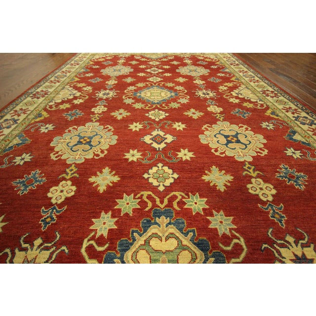 Super Kazak Hand Knotted Rug Red - 9' x 12' - Image 7 of 11