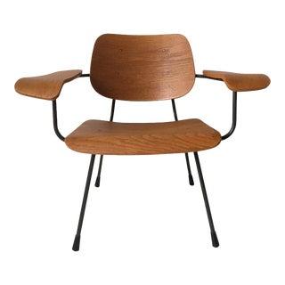Minimalist Dutch Design Pilastro Easy Chair Model 8000 by Tjerk Reijenga, 1960s