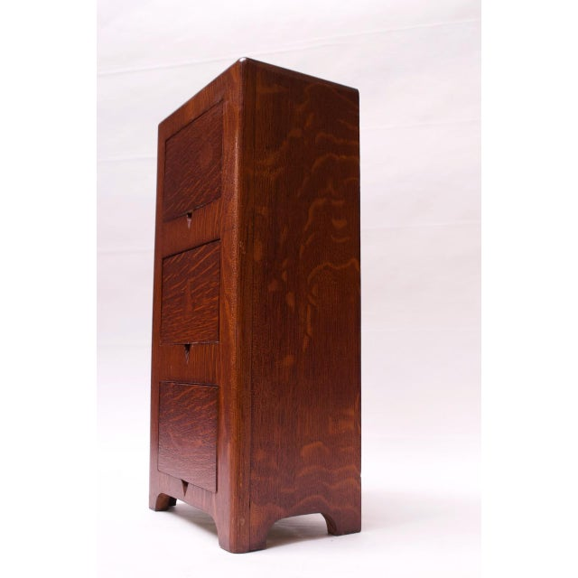 Art Deco Hand Carved Mahogany Three-Drawer Jewelry Chest / Storage Compartment For Sale In New York - Image 6 of 13