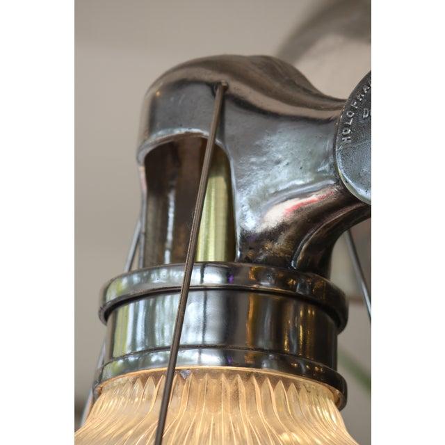 Vintage Holophane Industrial Double Pendant Lights For Sale - Image 7 of 9