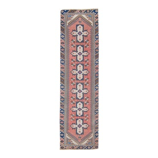1930s Anatolian Oushak Hand-Knotted Runner For Sale