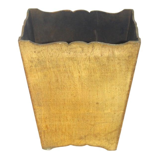 Mid-Century Florentine Giltwood Wastebasket Gilt Wood For Sale