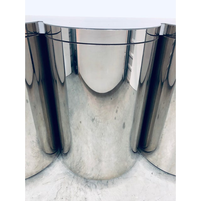 Paul Evans Mirror Polished Steel Cylinder Sideboard For Sale In Miami - Image 6 of 13