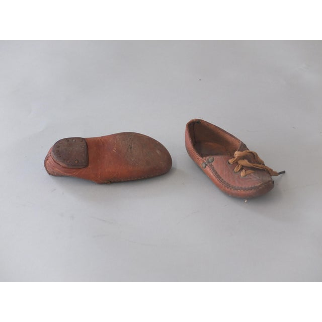 Antique Sarreid Ltd Native American Child's Moccasins - A Pair - Image 5 of 5