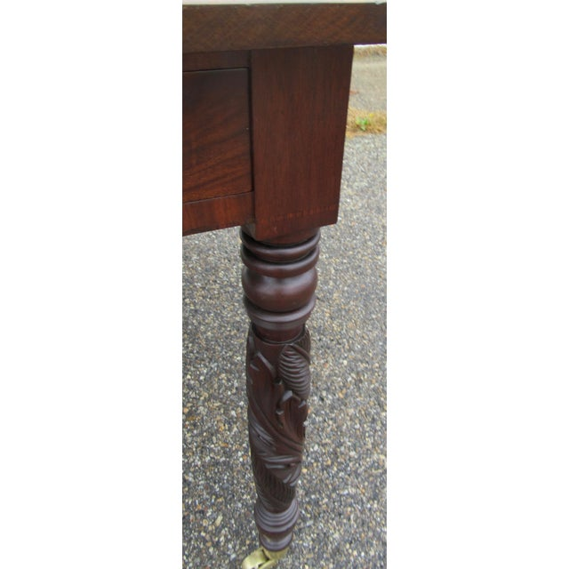 Federal Antique Federal Dropleaf Solid Mahogany Table For Sale - Image 3 of 13