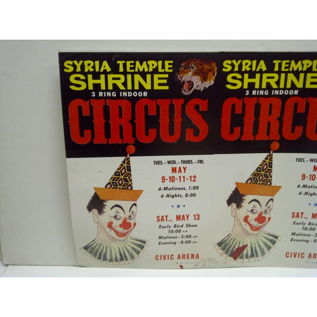 American Syria Temple Shrine Un-Cut Printers Poster of 2 Posters For Sale - Image 3 of 4