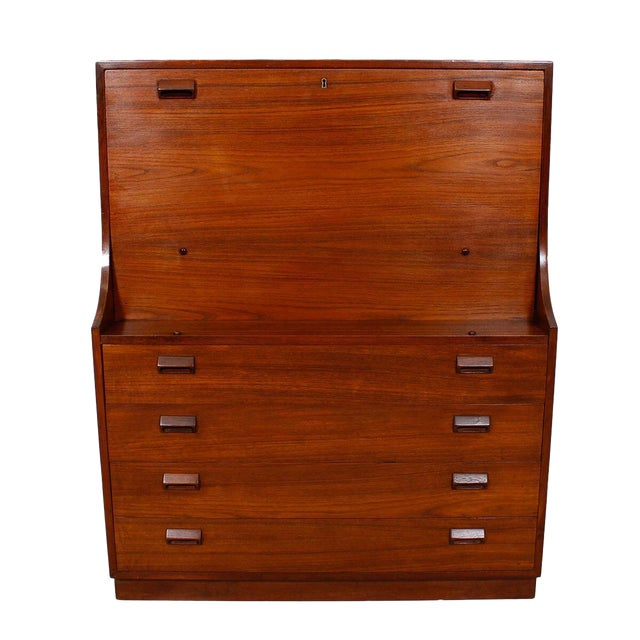 Danish Modern Teak Drop Front Secretary / Desk - Image 1 of 7