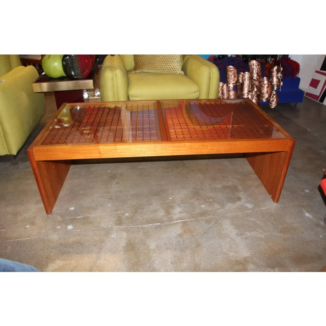 Artisan Craft Made Lattice Top Coffee Table For Sale - Image 10 of 10