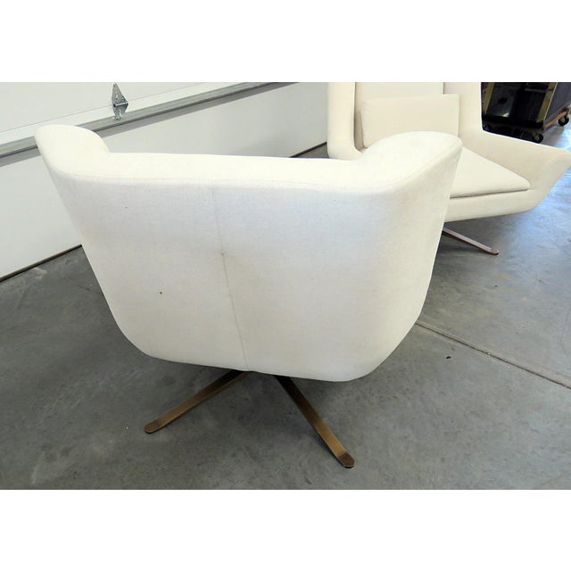 Early 21st Century Pair of Restoration Hardware Luke Swivel Chairs For Sale - Image 5 of 10